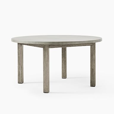"""Concrete Outdoor Round Dining Table (60"""")"""
