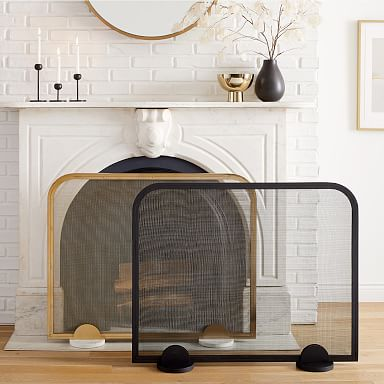Deco Metal Fireplace Screen