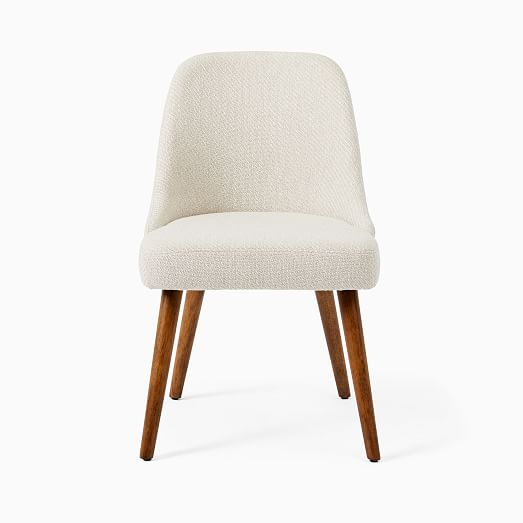Mid Century Upholstered Dining Chair Wood Legs