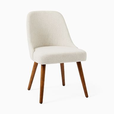 Mid-Century Upholstered Dining Chair - Wood Legs