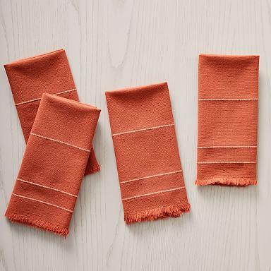 Minimalist Stripe Napkins (Set of 4)