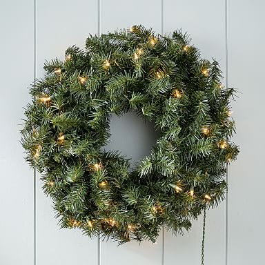 LED Light-Up Canadian Pine Wreath