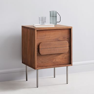Gemini Nightstand - Walnut