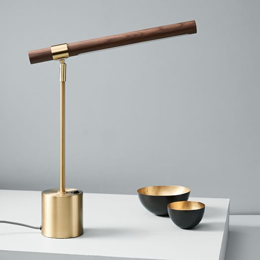 Linear Wood Led Usb Table Lamp