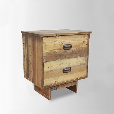 Emmerson® Reclaimed Wood 2-Drawer Nightstand - Natural