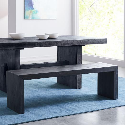 "Emmerson® Reclaimed Wood Dining Bench (58"") - Ink Black"
