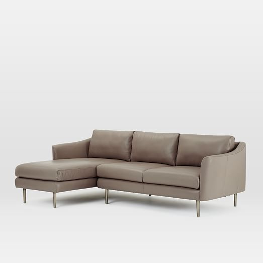 Sloane Leather 2 Piece Chaise Sectional