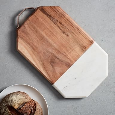 Marble & Wood Cutting Board - Large