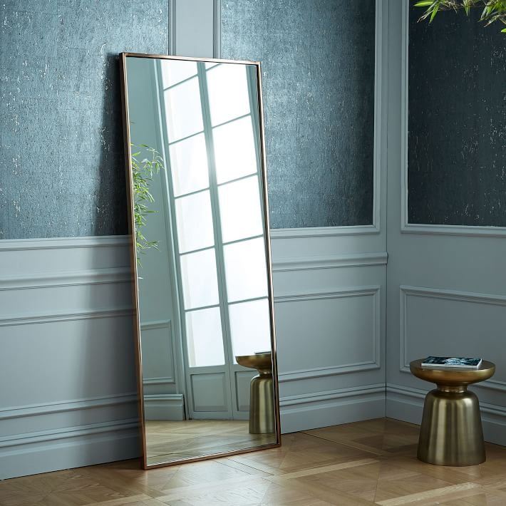 Metal Framed 72 Floor Mirror Rose Gold