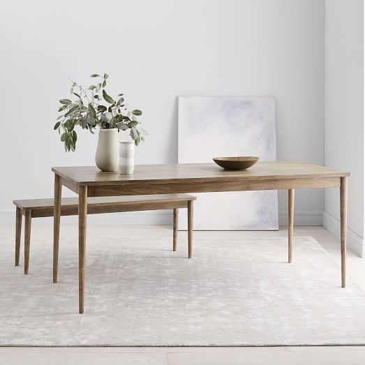 Modern Farmhouse Dining Table Cerused Carob