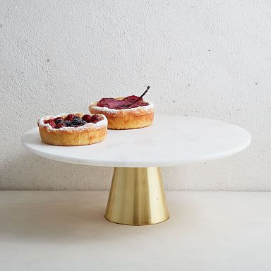 Marble & Brass Cake Stand