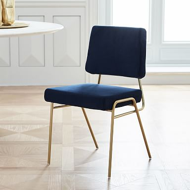 Wire Frame Upholstered Dining Chair