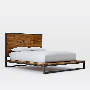 Logan Industrial Platform Bed - Natural
