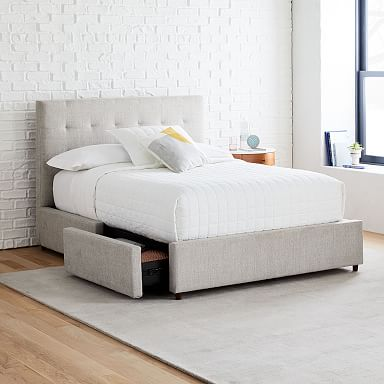 Grid-Tufted Storage Bed