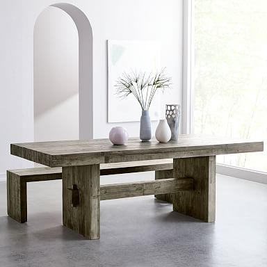 Emmerson® Reclaimed Wood Dining Table - Stone Gray
