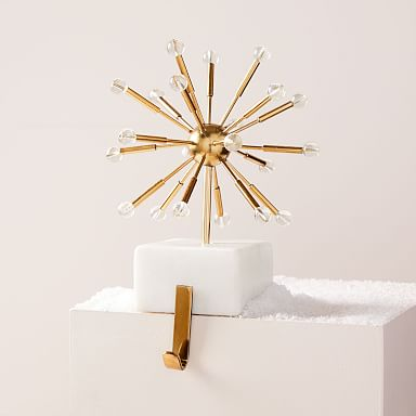 Sputnik Marble & Brass Stocking Holder