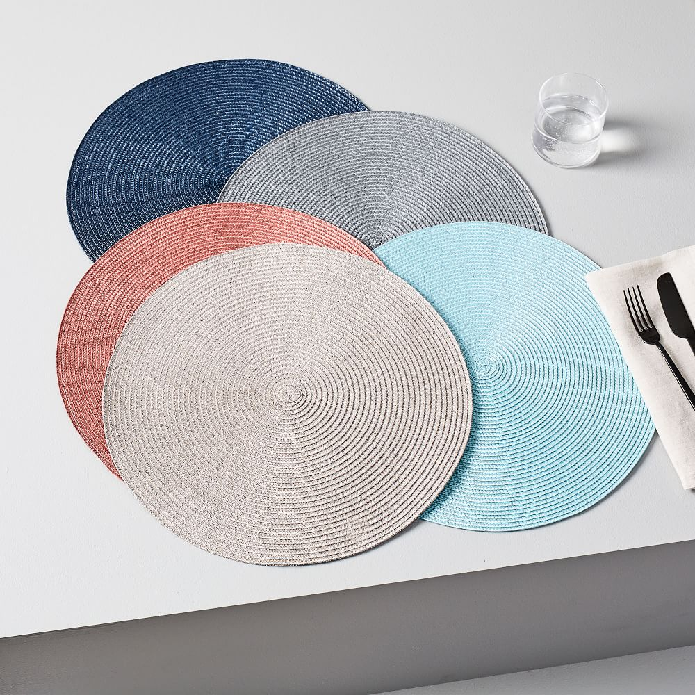Round Woven Placemats Set Of 2