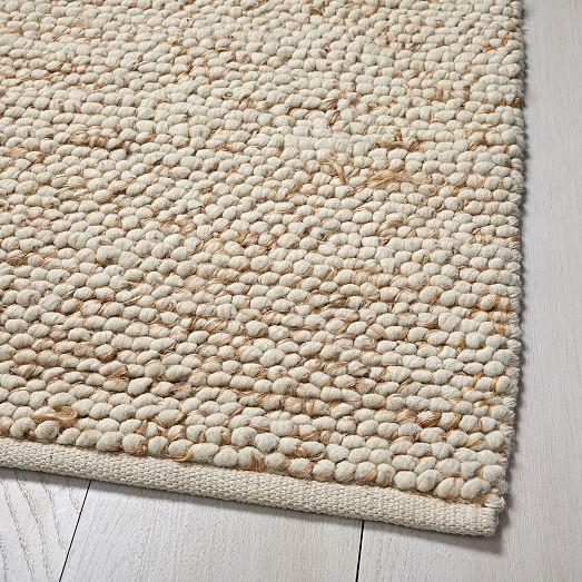 Mini Pebble Wool Jute Rug
