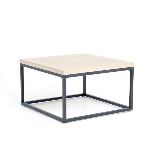 Slab Box Frame Outdoor Coffee Table Square