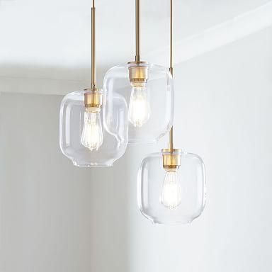 Build Your Own - Sculptural Glass 3-Light Chandelier