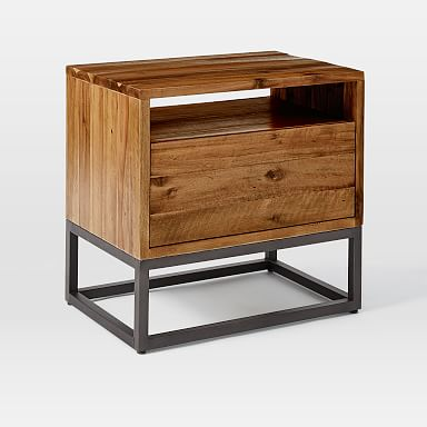 Logan Industrial Nightstand - Natural