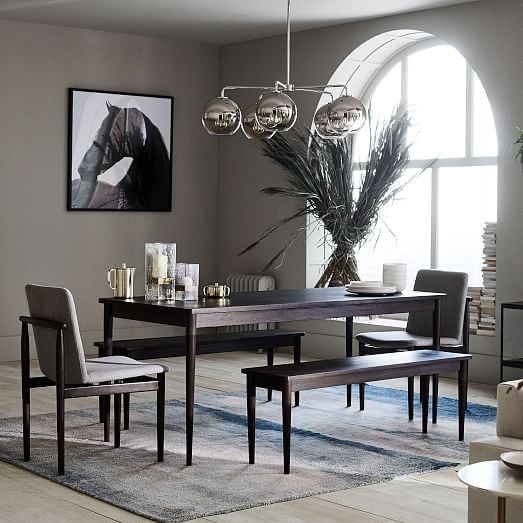 Modern Farmhouse Dining Table Dark Mineral
