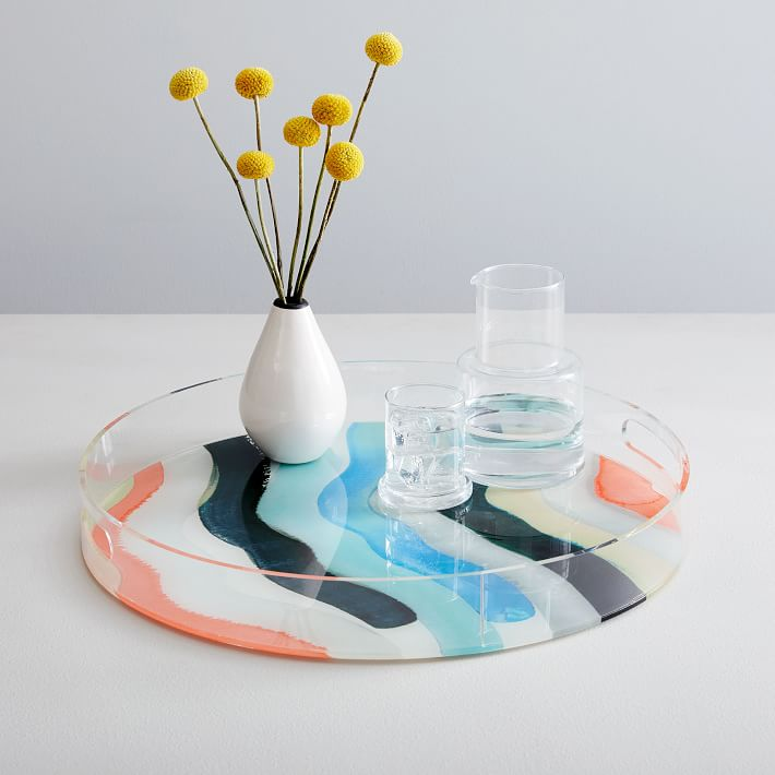 Printed Acrylic Round Serving Tray