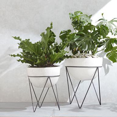 Iris Indoor/Outdoor Planter On Stand