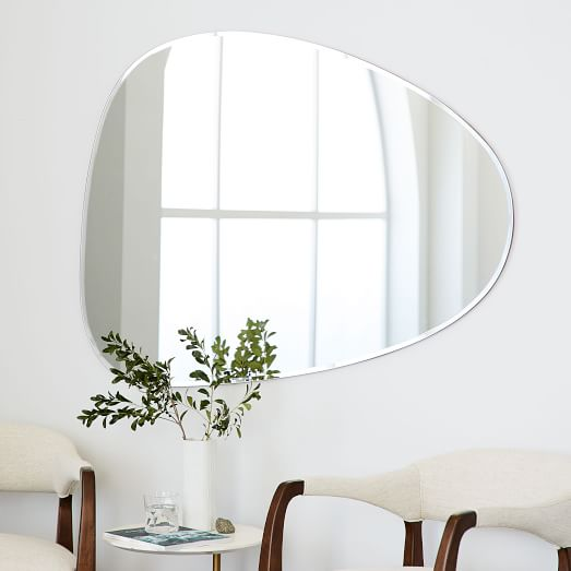Frameless Asymmetrical Wall Mirror