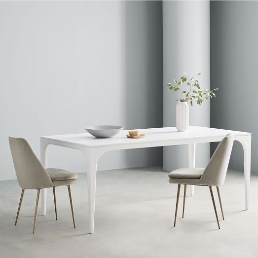 Adam Court Dining Table White Lacquer, White Lacquer Furniture