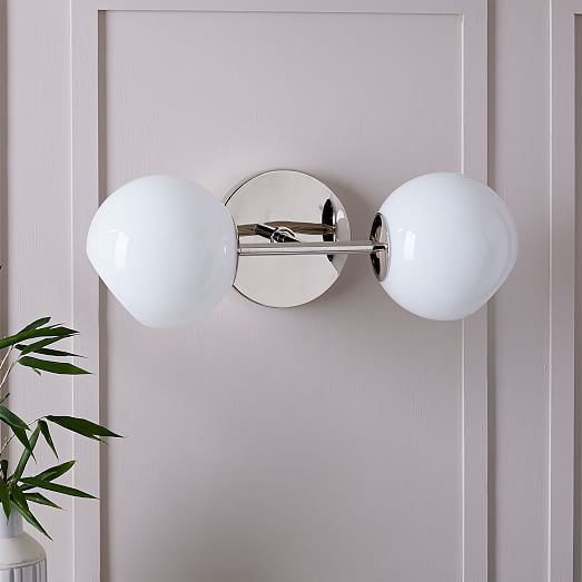 Staggered Glass Wall Sconce Double