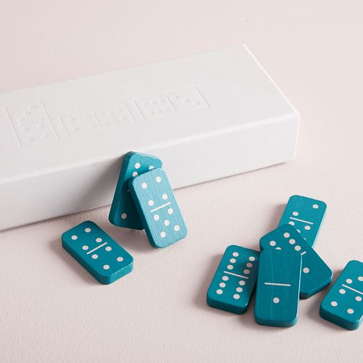 Dominoes Coffee Table Game, Glass Domino Set