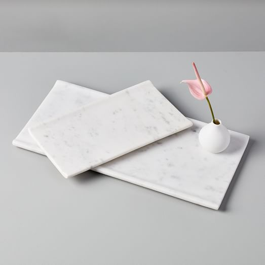Shop Foundations White Marble Trays from West Elm on Openhaus