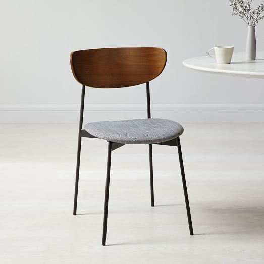 Mid-Century Modern Petal Upholstered Dining Chair ...