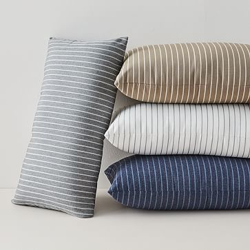 Sunbrella Indoor Outdoor Striped Lumbar Pillows