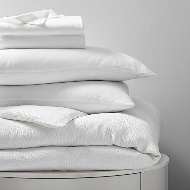 TENCEL™ Starter Bedding Set - White Matelasse/White