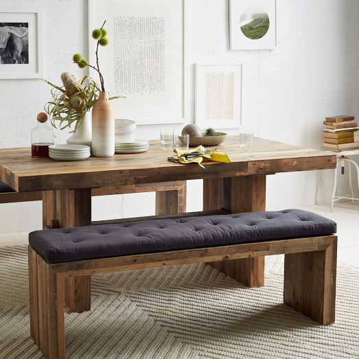 Emmerson Reclaimed Wood Dining Bench Reclaimed Pine