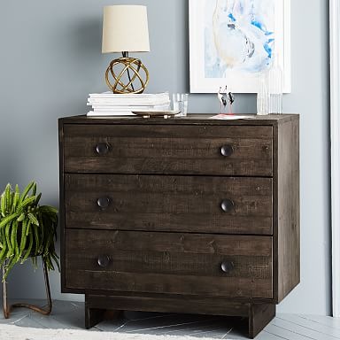 Emmerson® Reclaimed Wood 3-Drawer Dresser - Chestnut