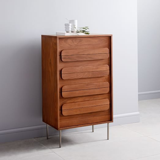 Gemini 5 Drawer Dresser Walnut