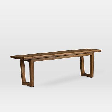 Logan Industrial Dining Bench - Natural