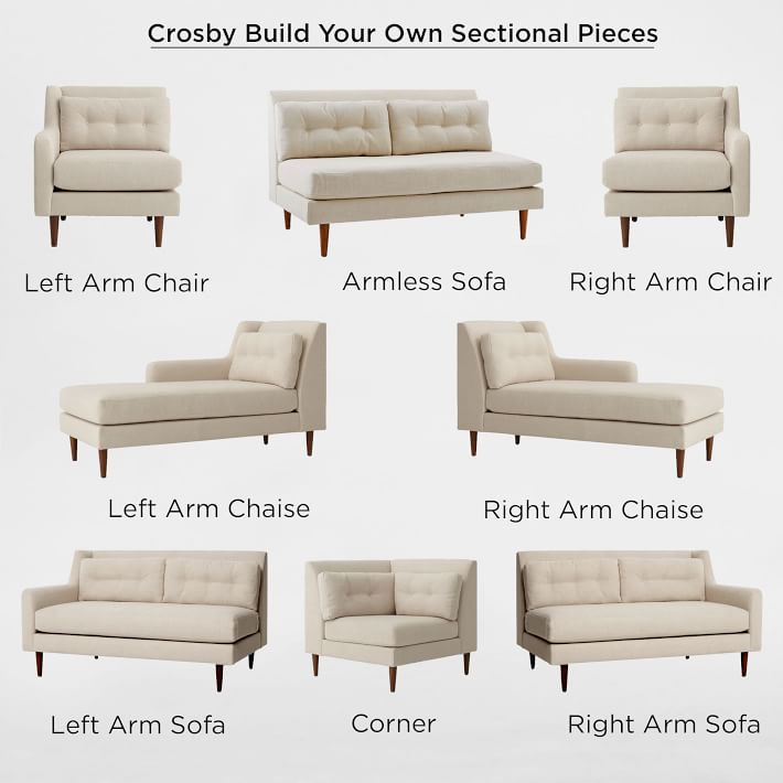 Build Your Own - Crosby Mid-Century Sectional Pieces