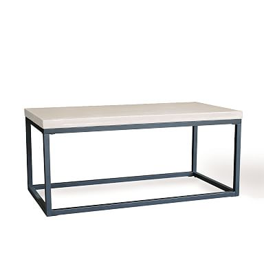 Slab Box Frame Outdoor Coffee Table - Rectangle