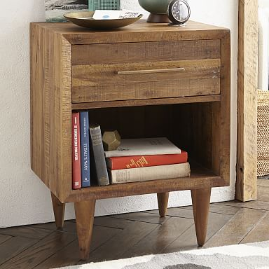 Alexa Reclaimed Wood Nightstand - Honey