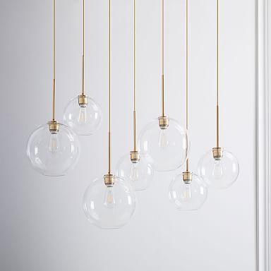 Build Your Own - Sculptural Glass 7-Light Chandelier