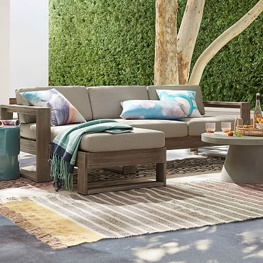 Portside Outdoor 2-Piece Chaise Sectional