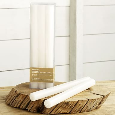Unscented Taper Candles