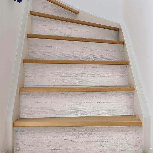 White Wood Grain Peel Stick Wallpaper