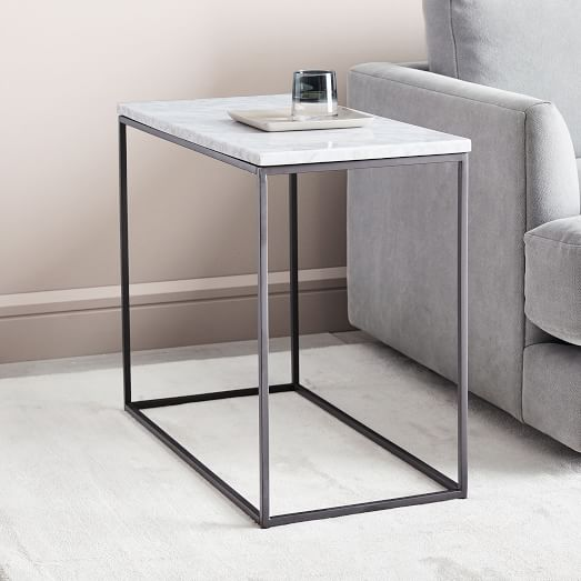 Streamline Side Table Marble