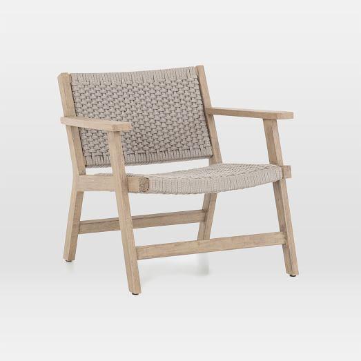Woven Rope Teak Outdoor Chair