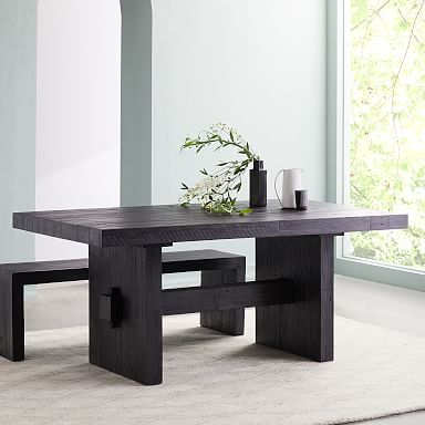 Emmerson® Reclaimed Wood Dining Table - Ink Black